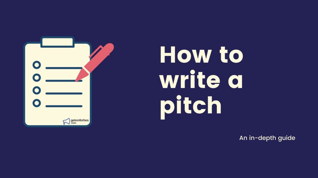 How to write a pitch to get published on forbes